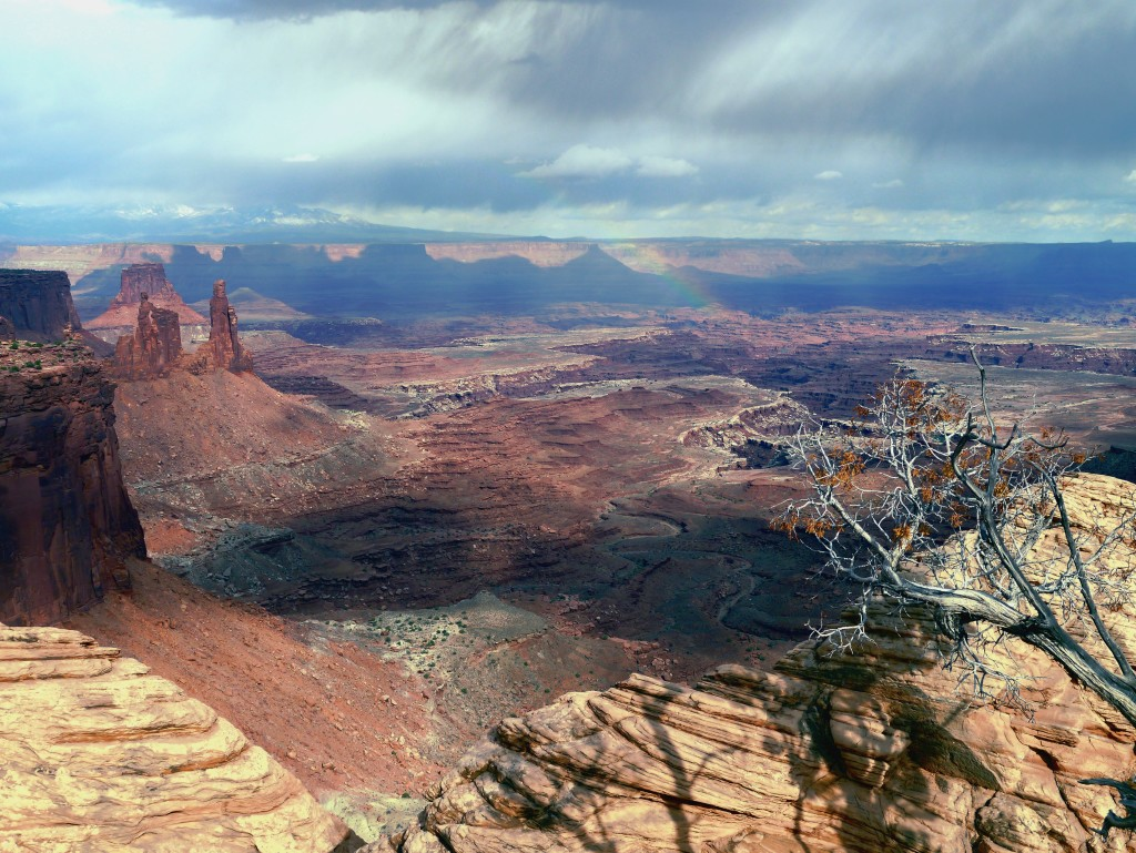 The prelude to a sudden and intense thunderstorm at Canyonlands National Park