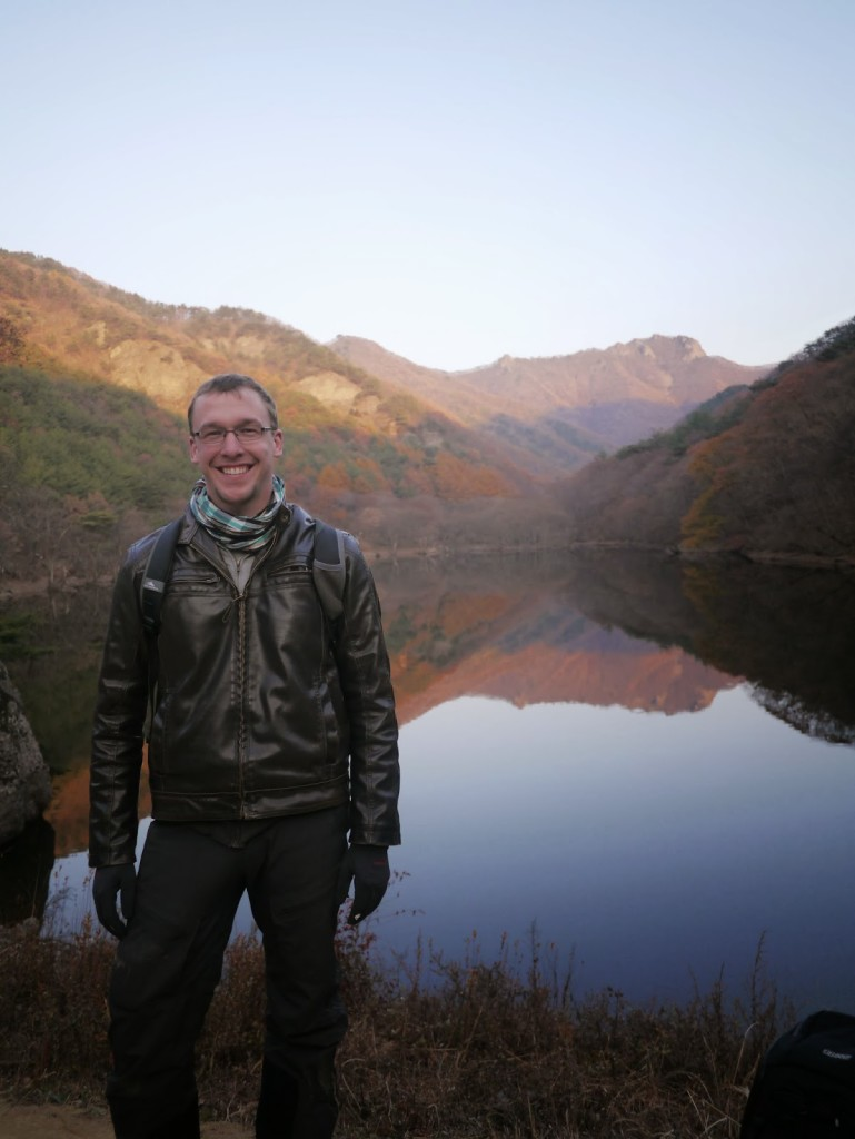 An autumn motorcycle ride through the hills and apple orchards around Cheongsong