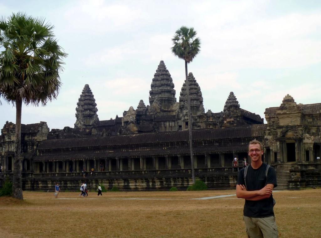Enjoying my first day at the amazing Angkor Wat