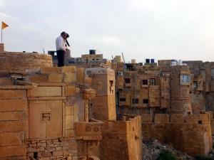 Atop the Walls of Jaisalmer