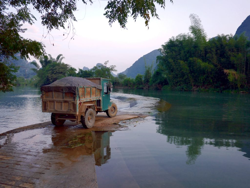 Crossing the Yulong River