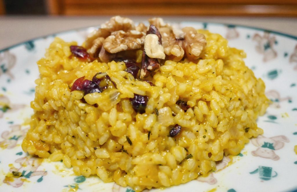 Cranberry Pumpkin Risotto